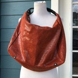 Handbags - Lola Barnard Burnt Orange  Vegan Suede Bag